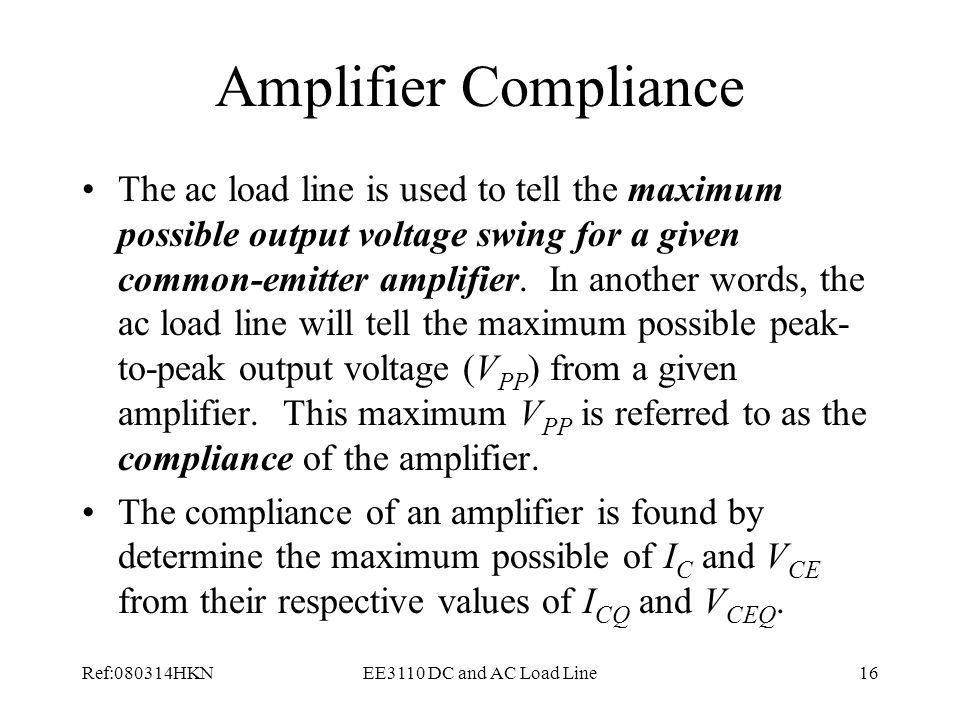 Amplifier Compliance