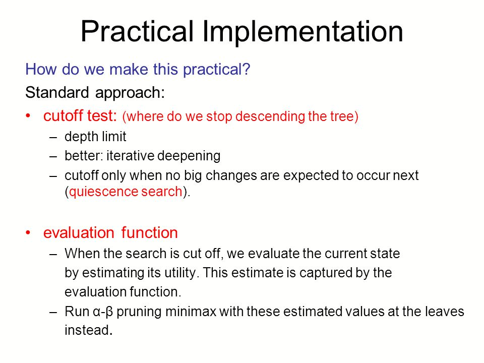 Practical Implementation