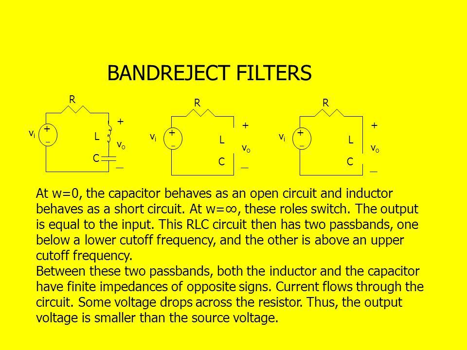 BANDREJECT FILTERS R. R. R. + + + + vi. + + L. vi. vi. L. L. vo. vo. vo. C. C. C.
