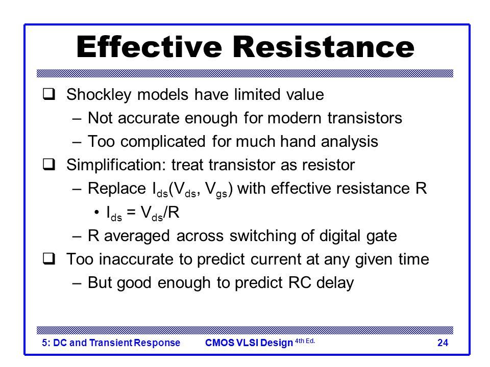 Effective Resistance Shockley models have limited value