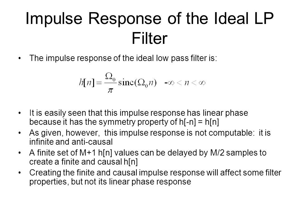 Impulse Response of the Ideal LP Filter