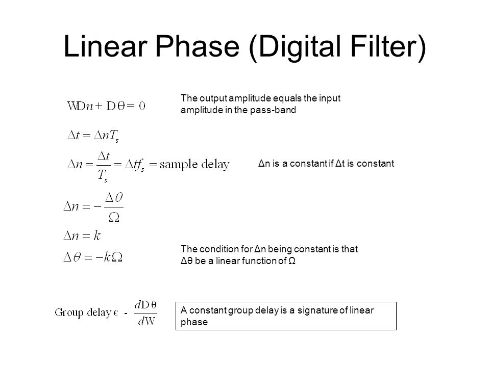 Linear Phase (Digital Filter)