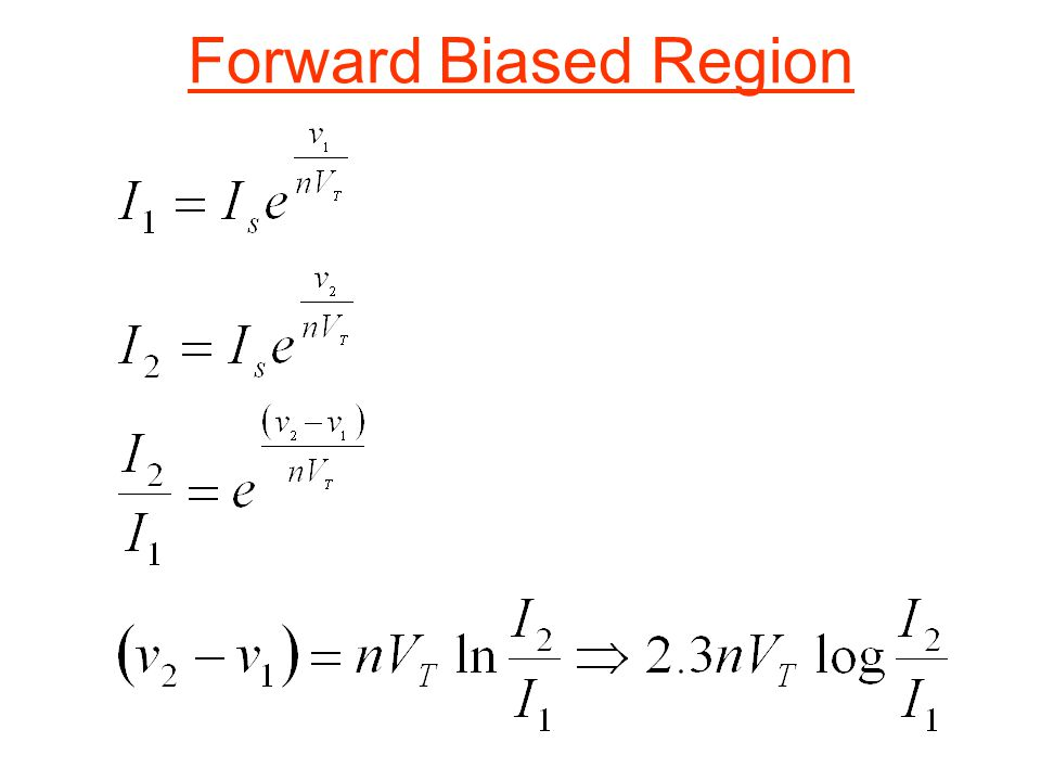 Forward Biased Region