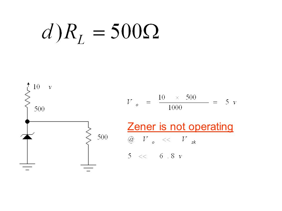 Zener is not operating