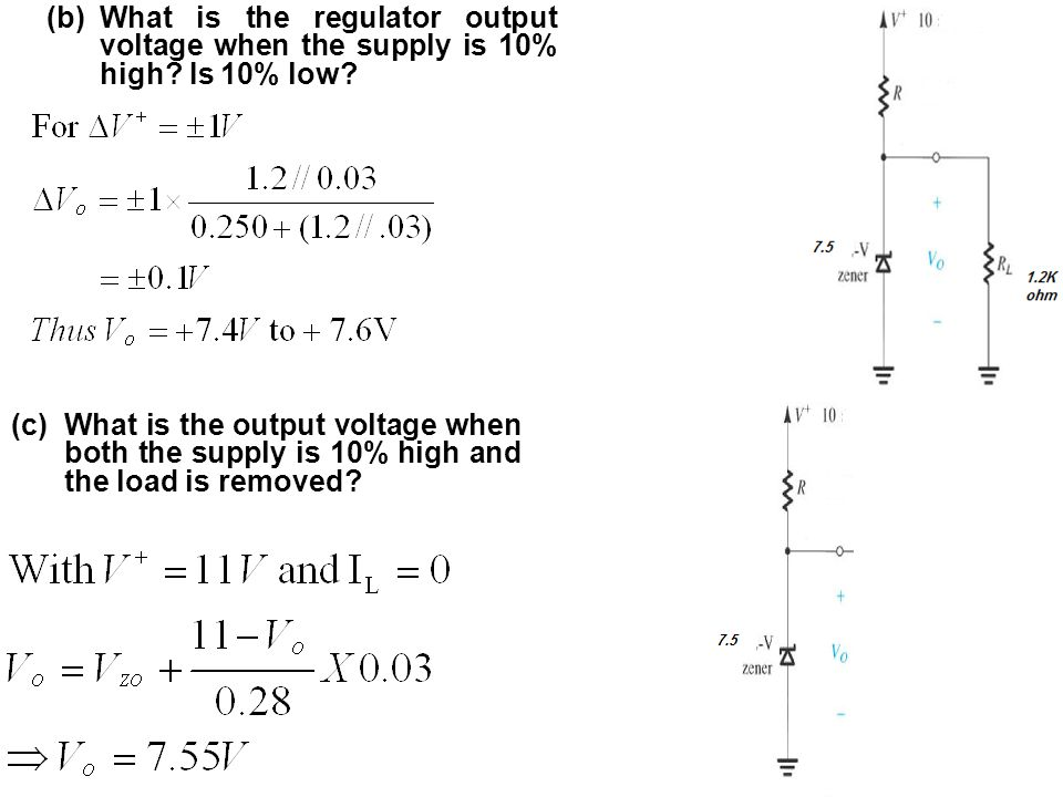 What is the regulator output voltage when the supply is 10% high