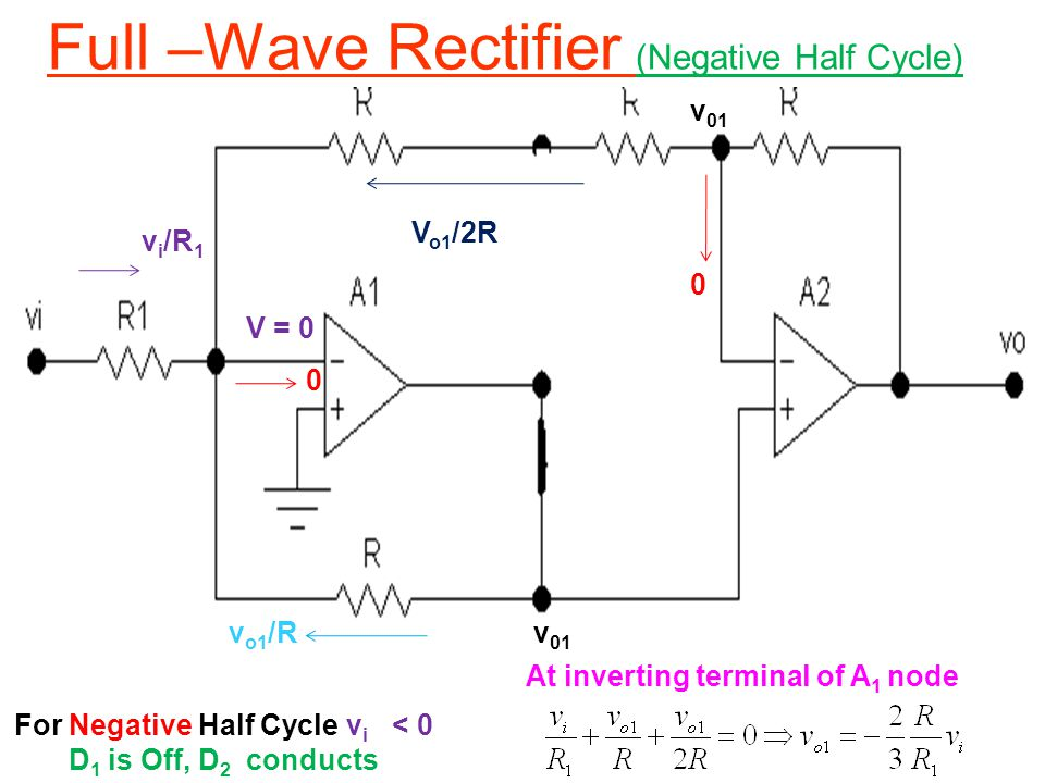 Full –Wave Rectifier (Negative Half Cycle)