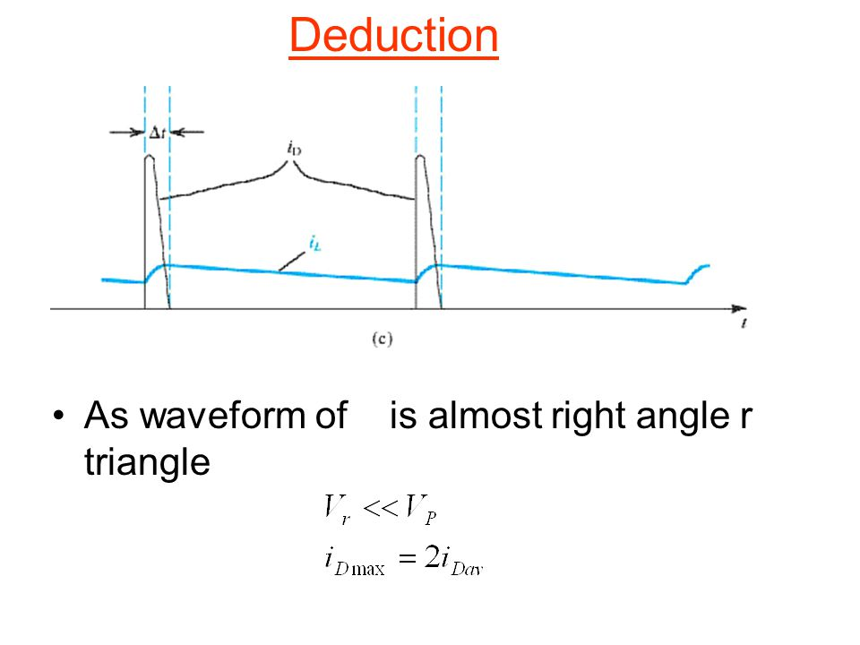 Deduction As waveform of is almost right angle r triangle