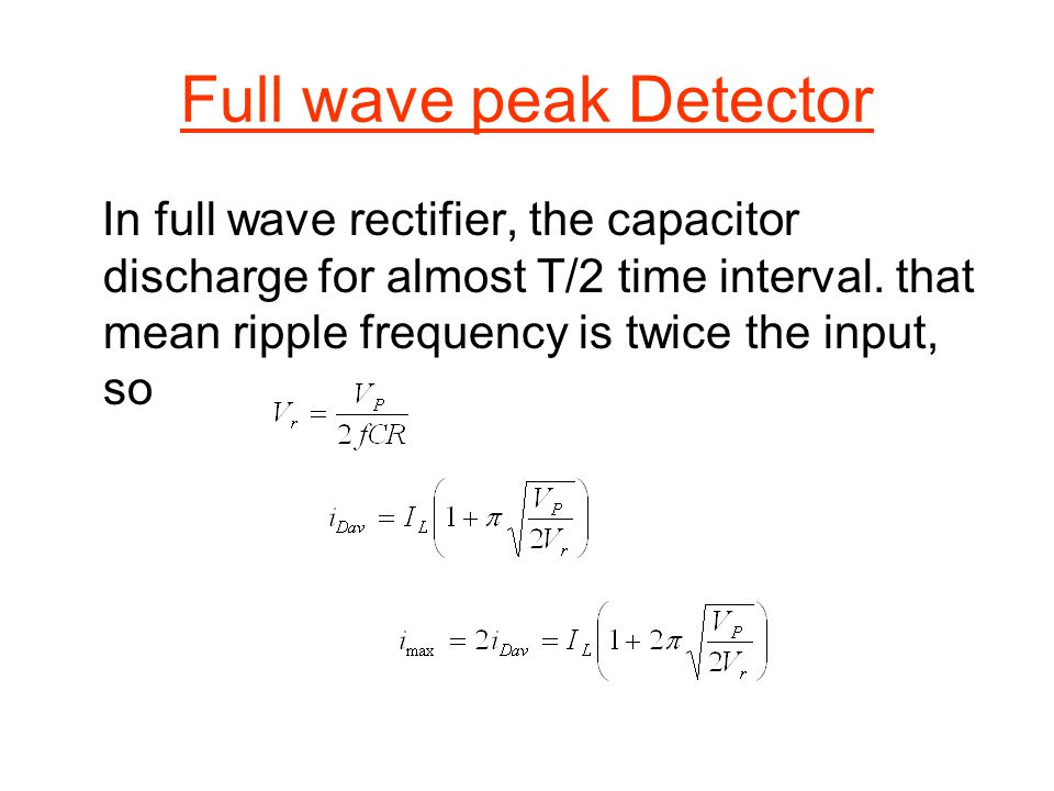 Full wave peak Detector