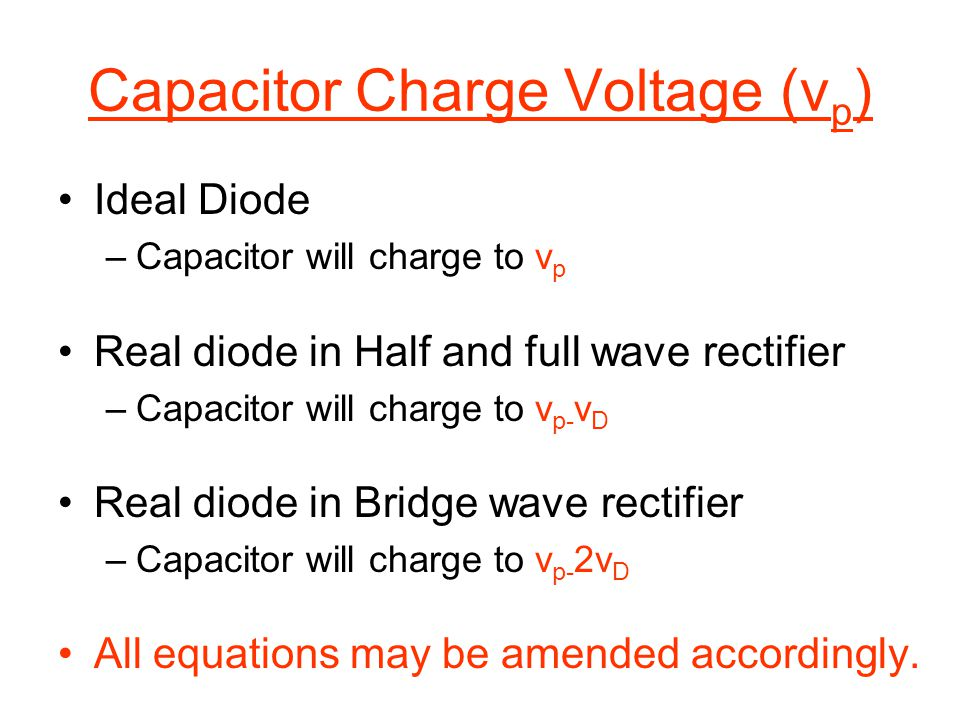 Capacitor Charge Voltage (vp)