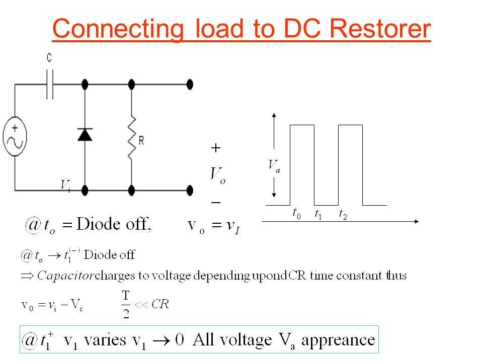 Connecting load to DC Restorer
