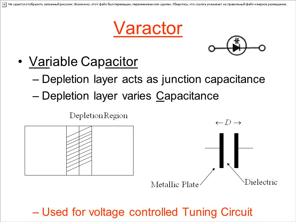 Varactor Variable Capacitor