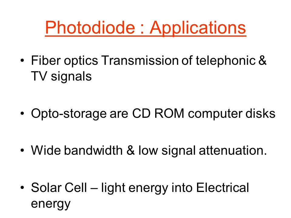 Photodiode : Applications
