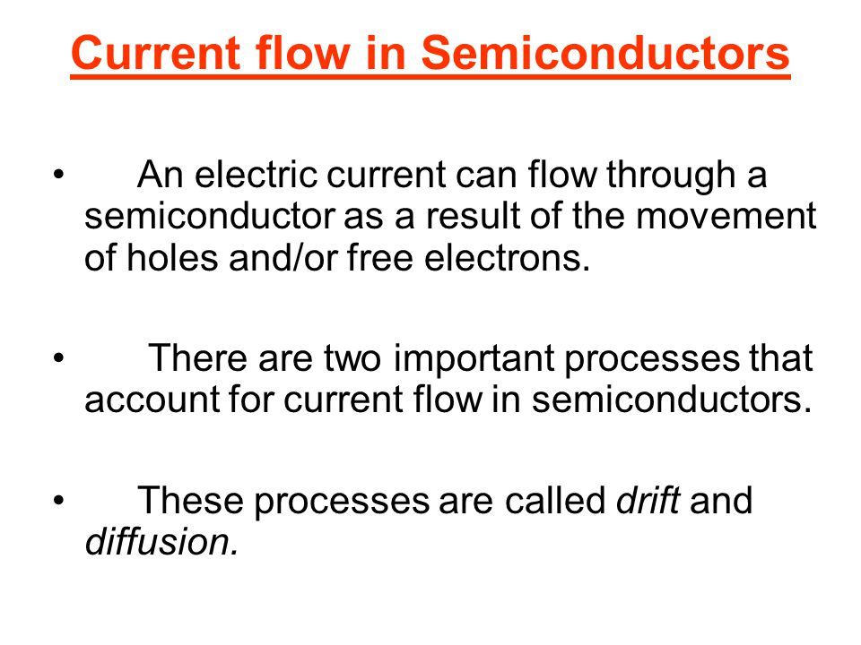 Current flow in Semiconductors