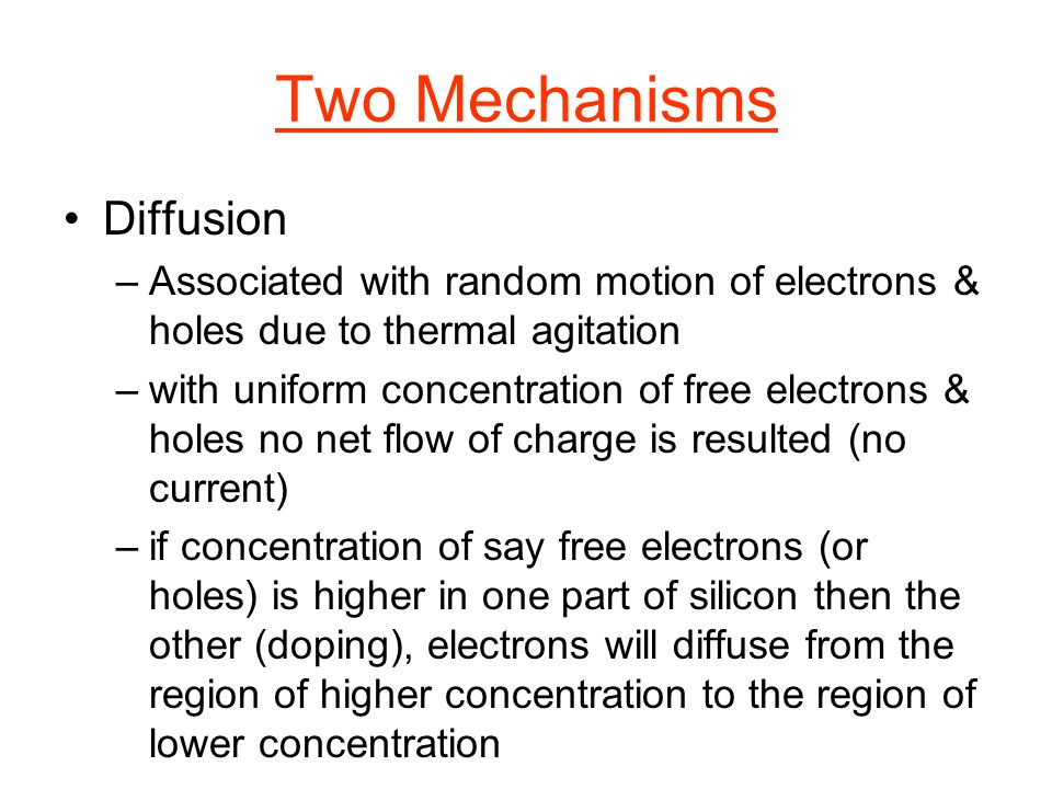 Two Mechanisms Diffusion