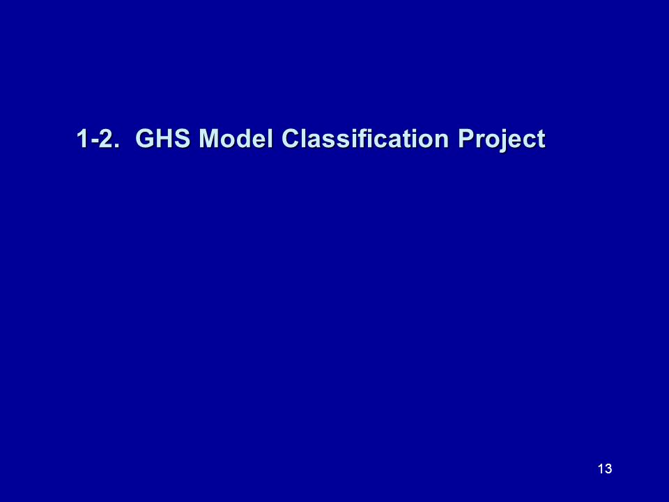 1-2. GHS Model Classification Project