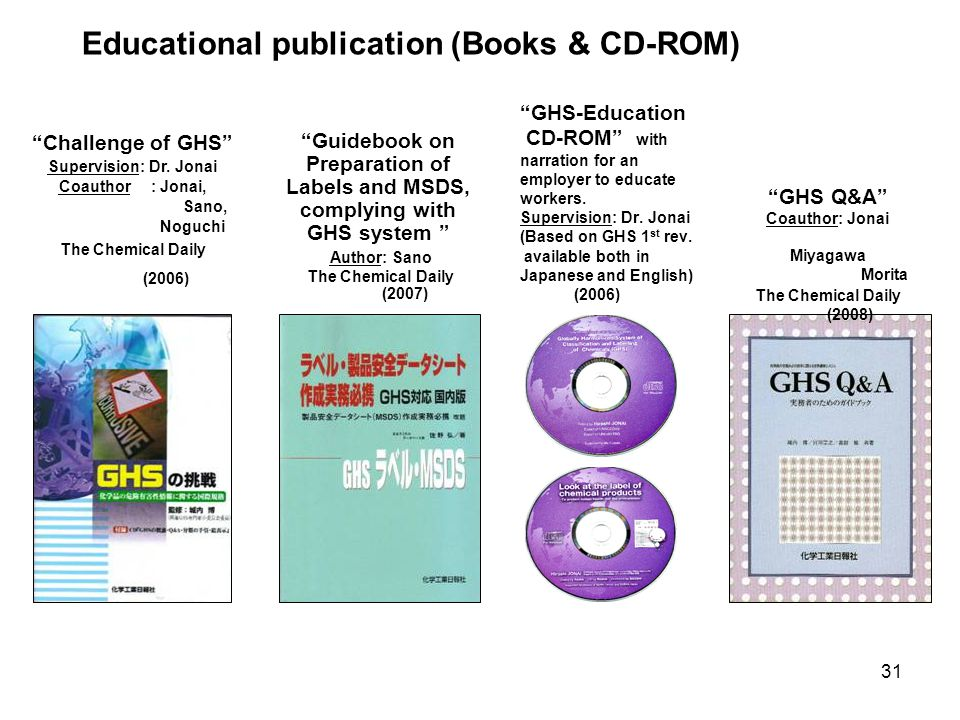 Educational publication (Books & CD-ROM)