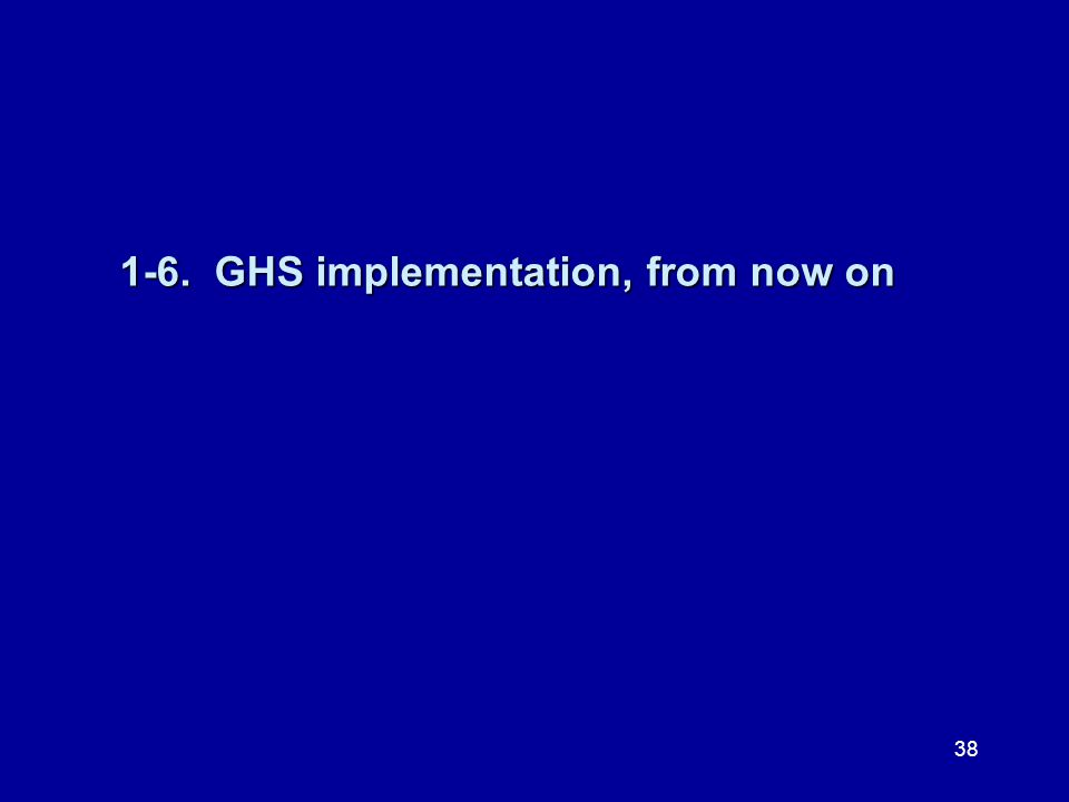 1-6. GHS implementation, from now on