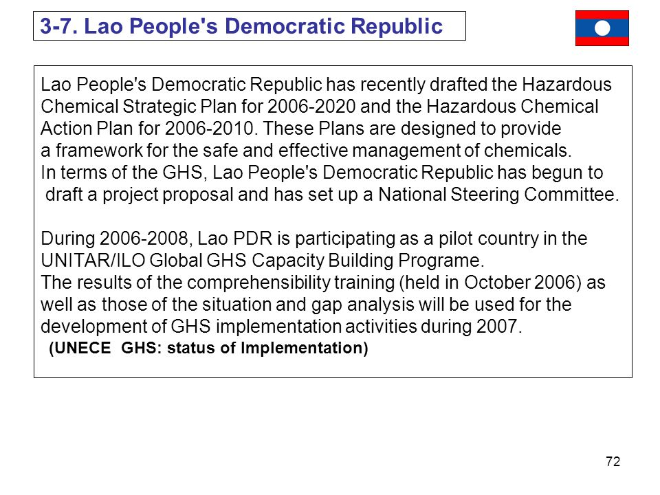 3-7. Lao People s Democratic Republic