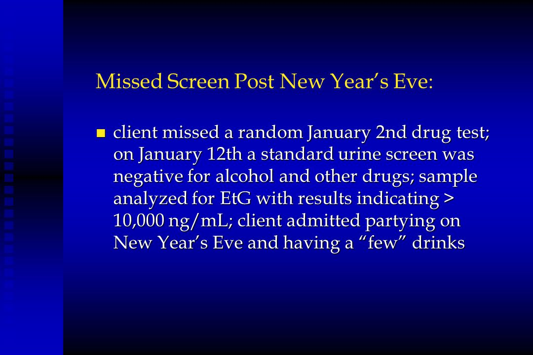 Missed Screen Post New Year's Eve: