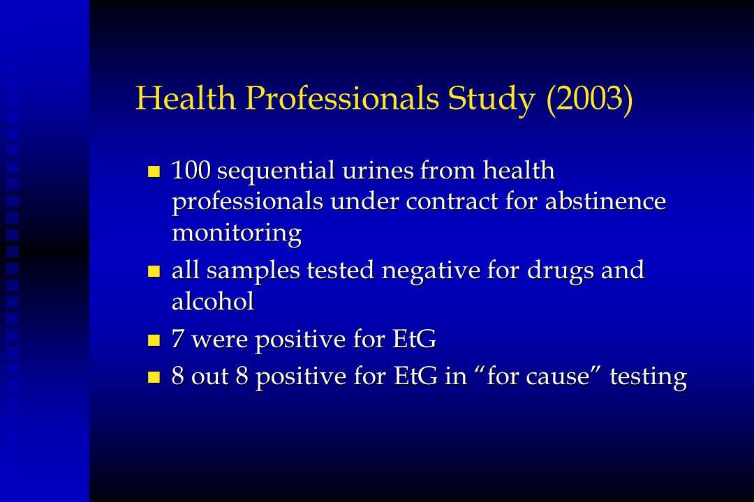 Health Professionals Study (2003)