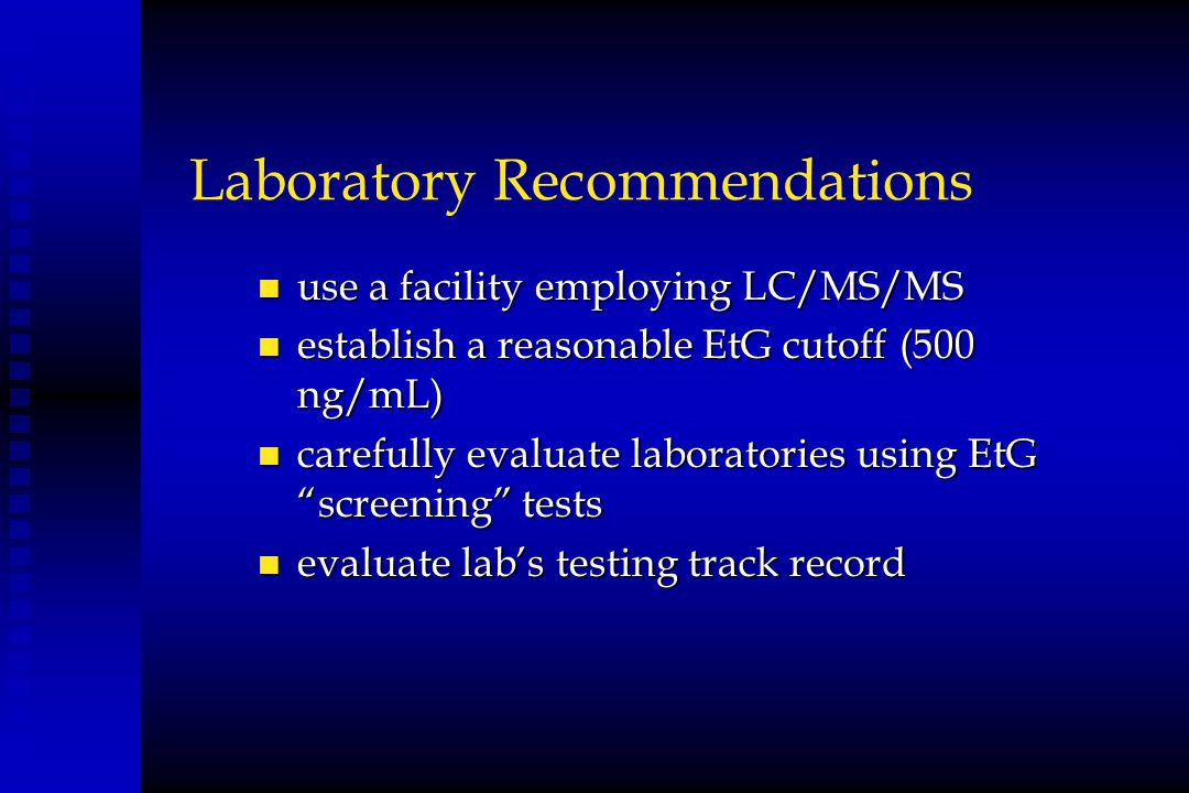 Laboratory Recommendations