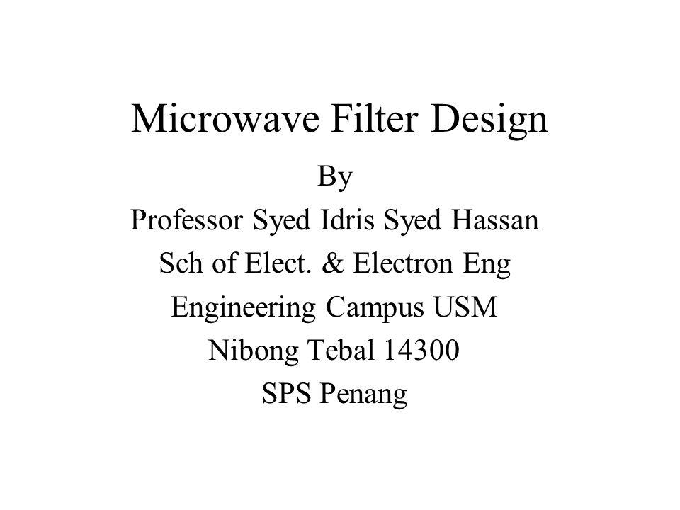 Microwave Filter Design