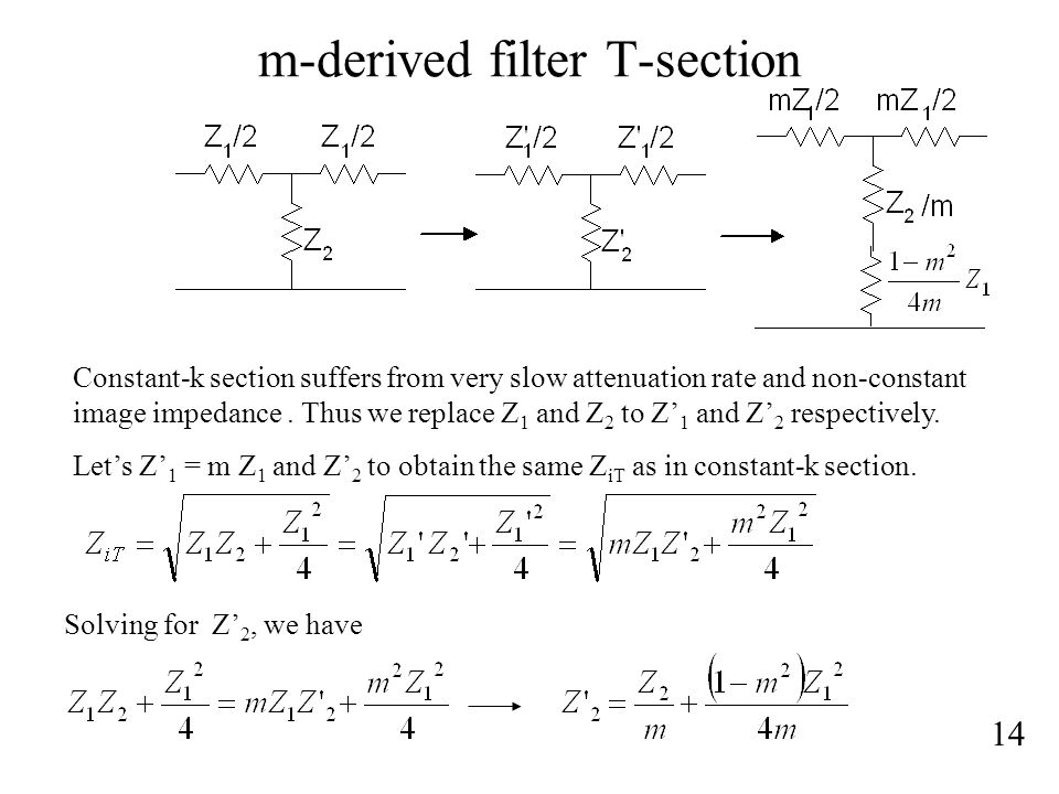 m-derived filter T-section