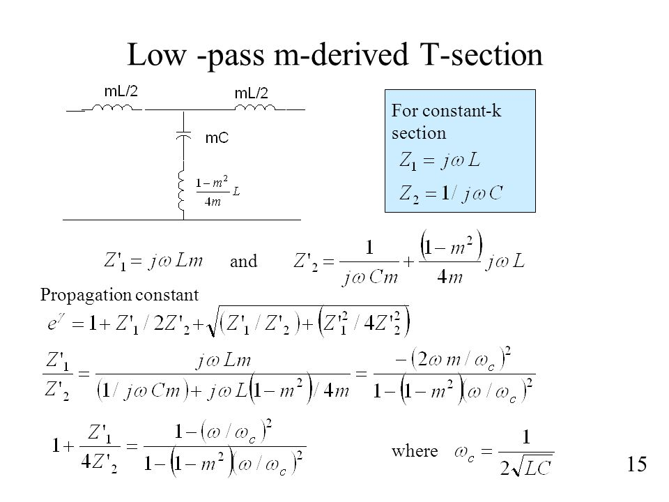 Low -pass m-derived T-section