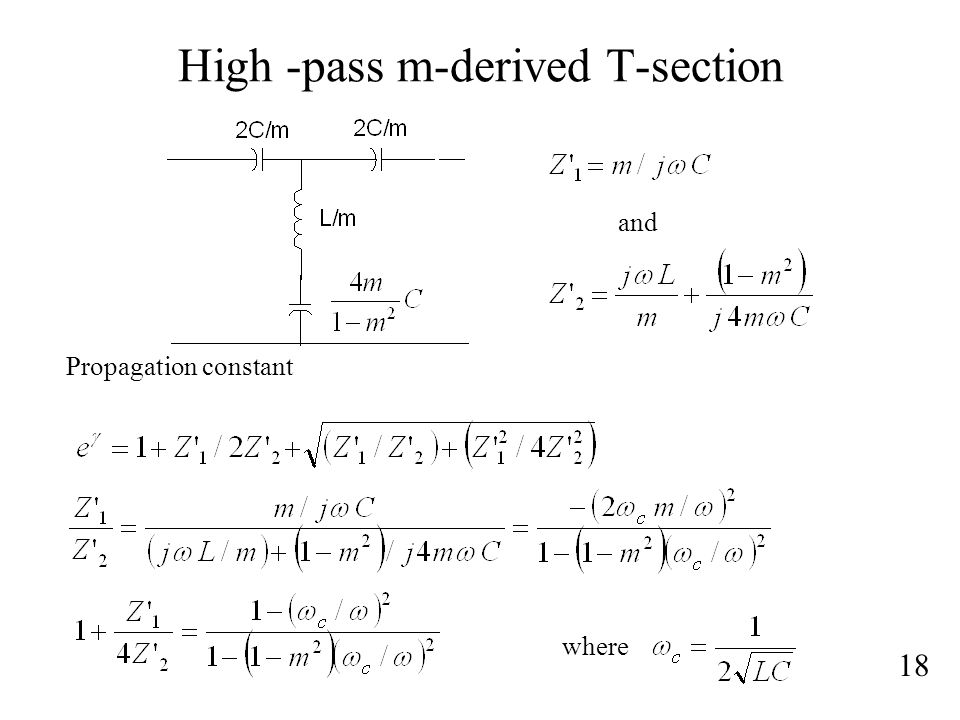 High -pass m-derived T-section
