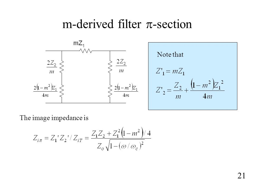 m-derived filter p-section