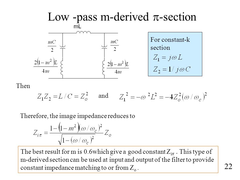 Low -pass m-derived p-section