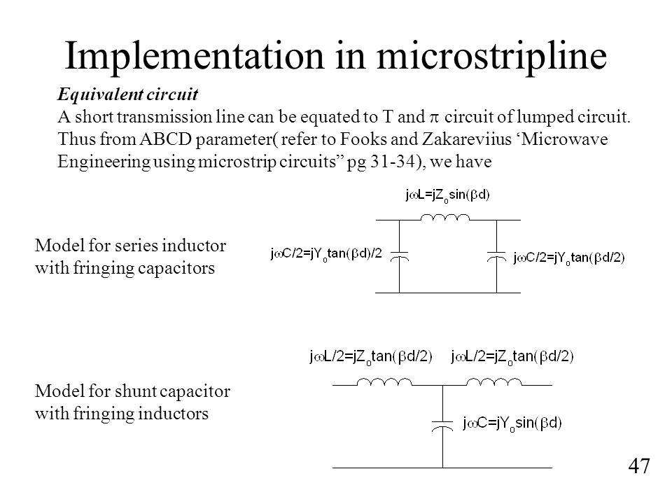 Implementation in microstripline