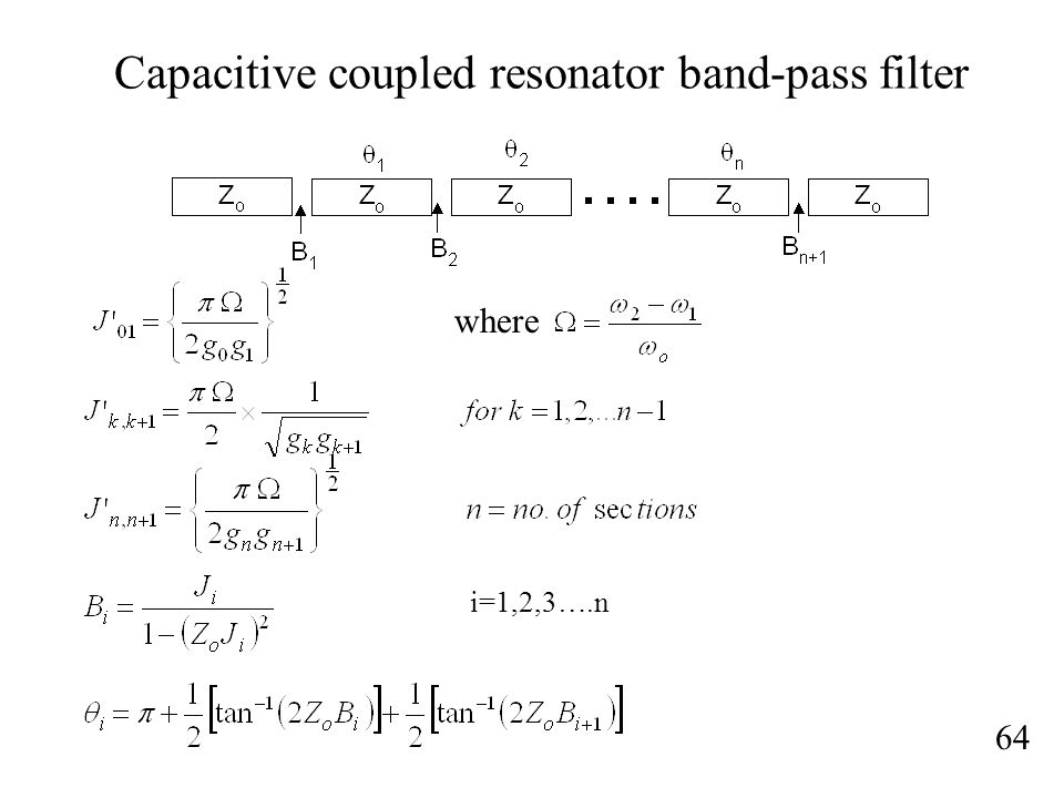 Capacitive coupled resonator band-pass filter