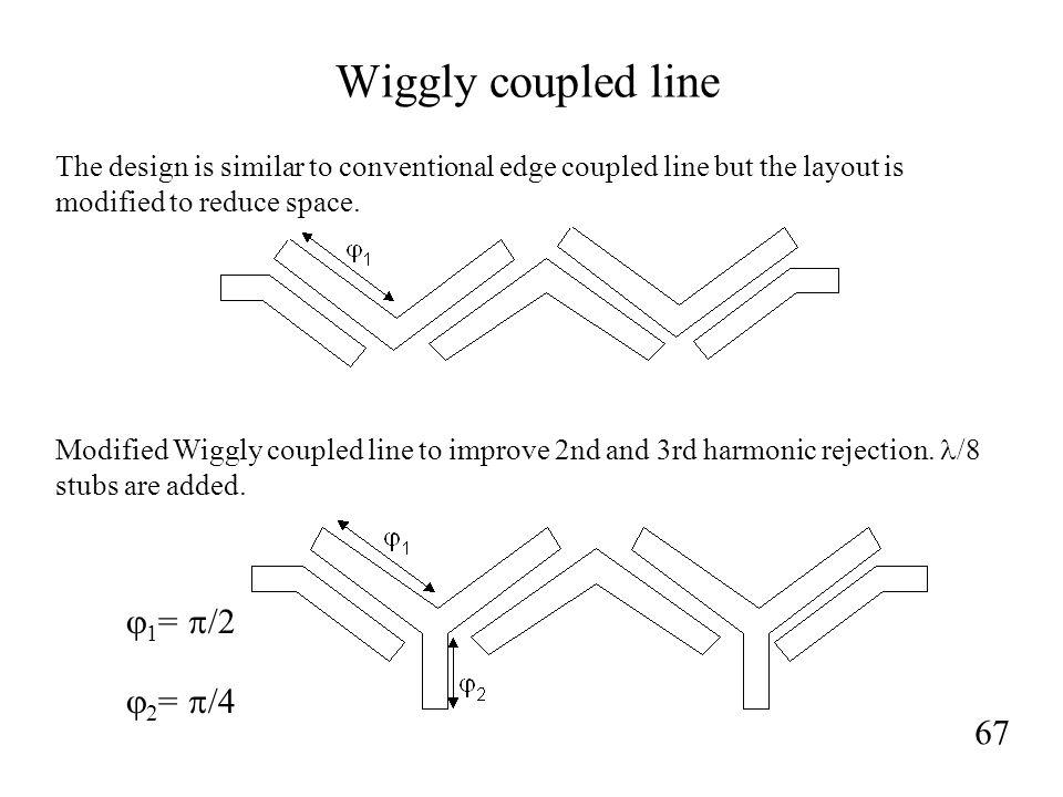 Wiggly coupled line j1= p/2 j2= p/4 67