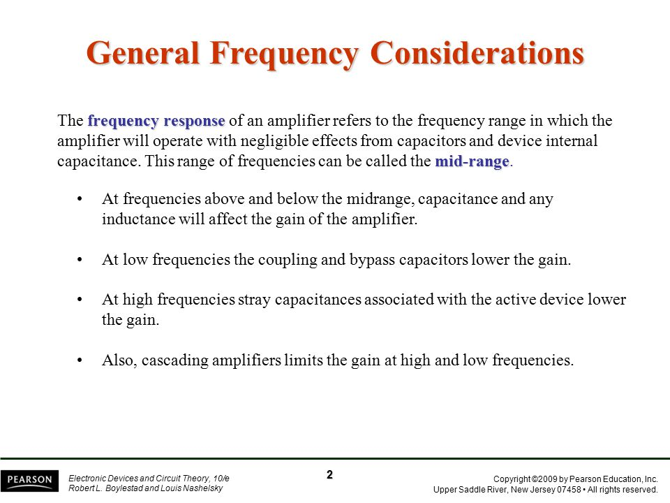 General Frequency Considerations