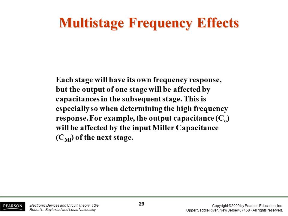 Multistage Frequency Effects