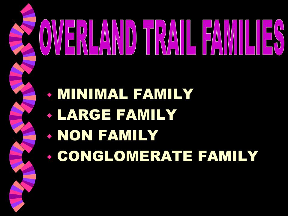 OVERLAND TRAIL FAMILIES