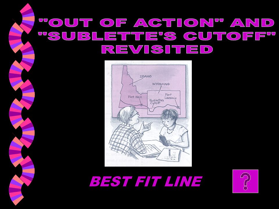 OUT OF ACTION AND SUBLETTE S CUTOFF REVISITED BEST FIT LINE