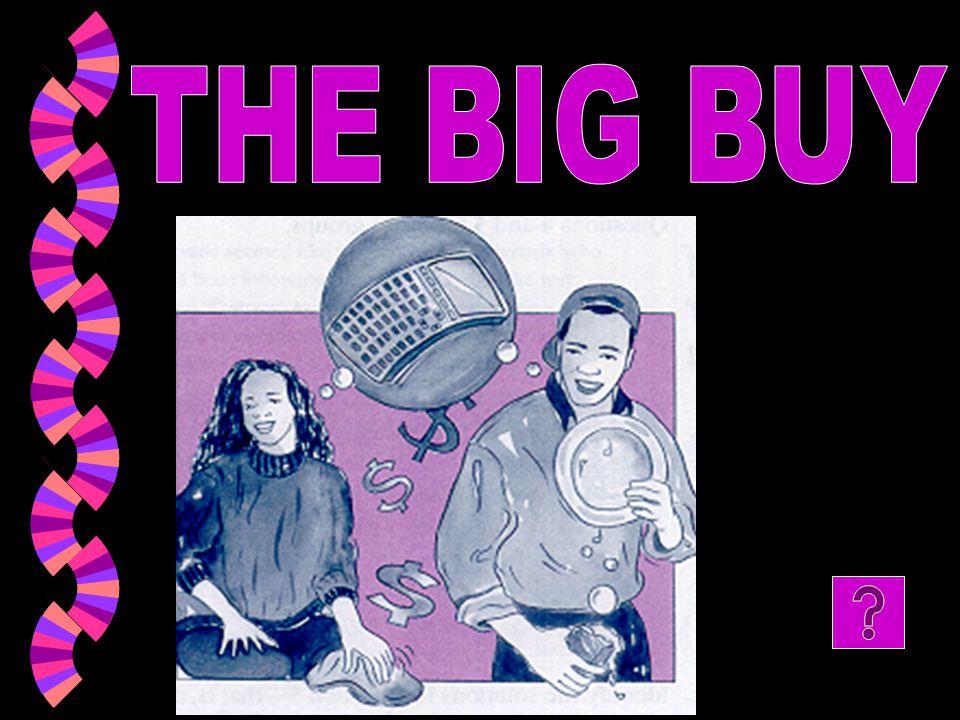 THE BIG BUY
