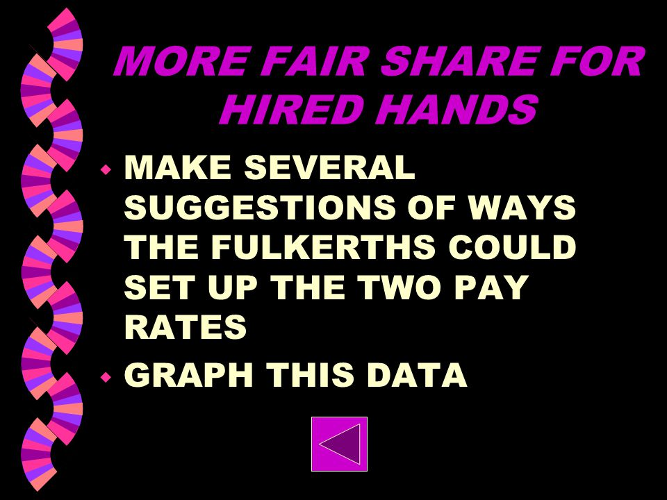 MORE FAIR SHARE FOR HIRED HANDS