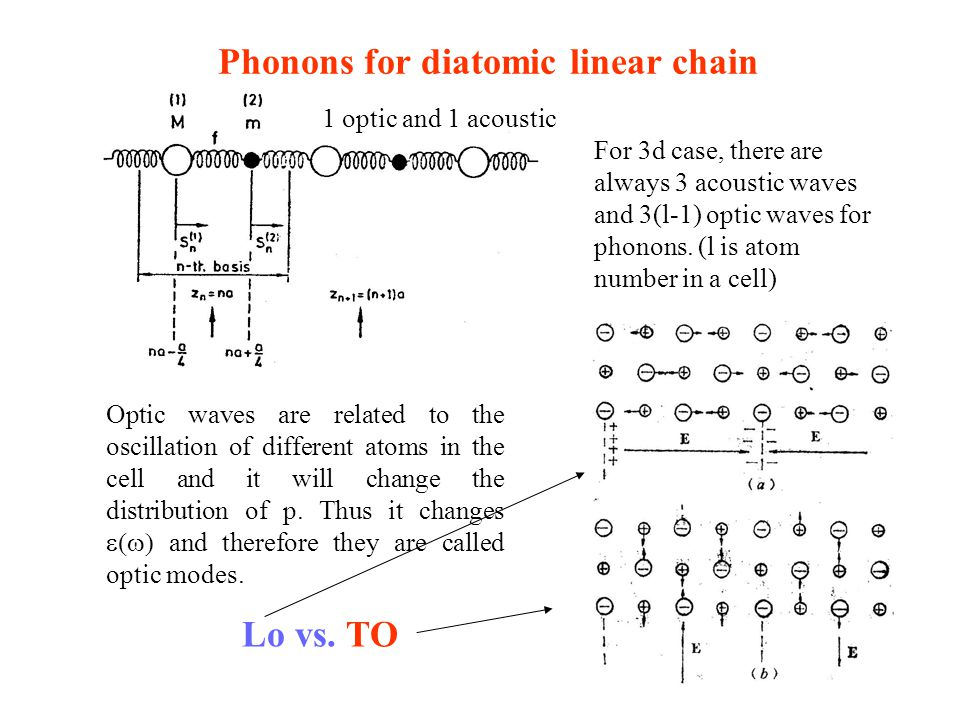 Phonons for diatomic linear chain