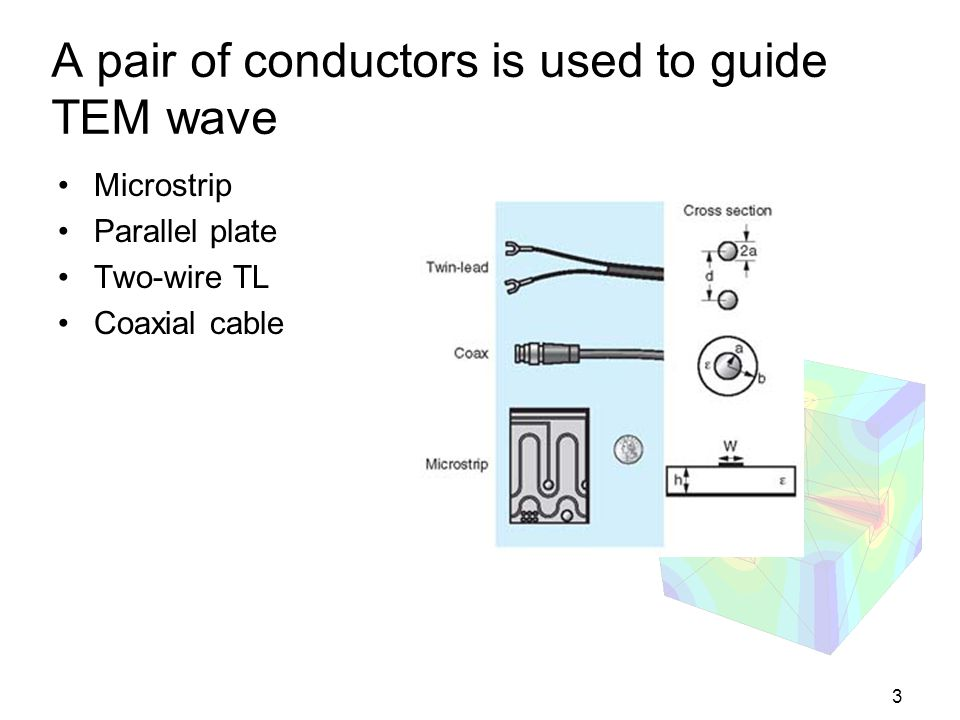 A pair of conductors is used to guide TEM wave