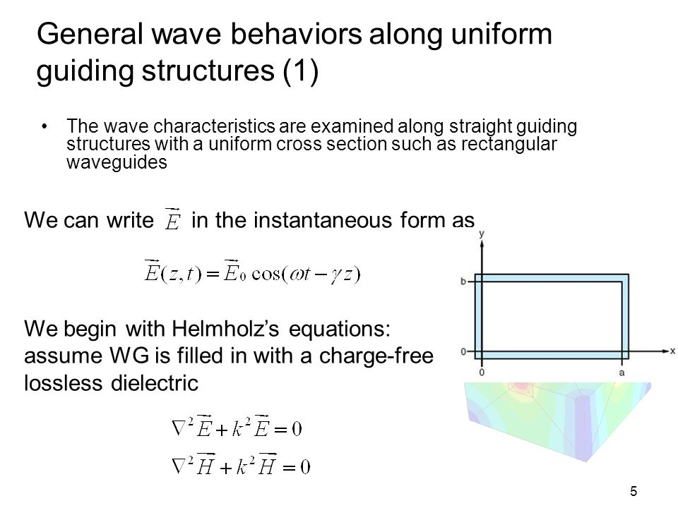General wave behaviors along uniform guiding structures (1)