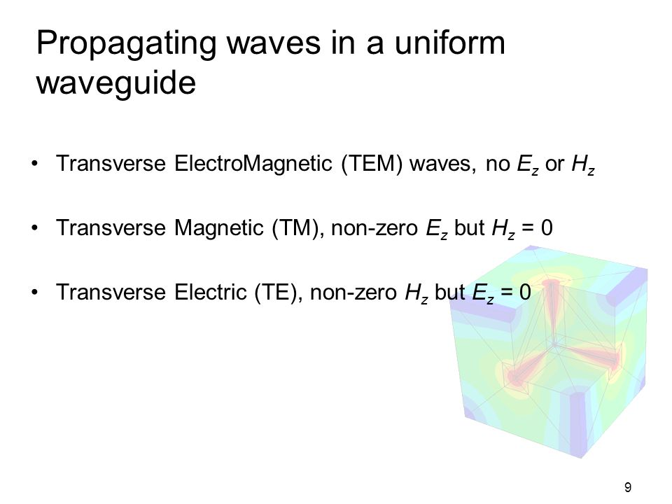 Propagating waves in a uniform waveguide