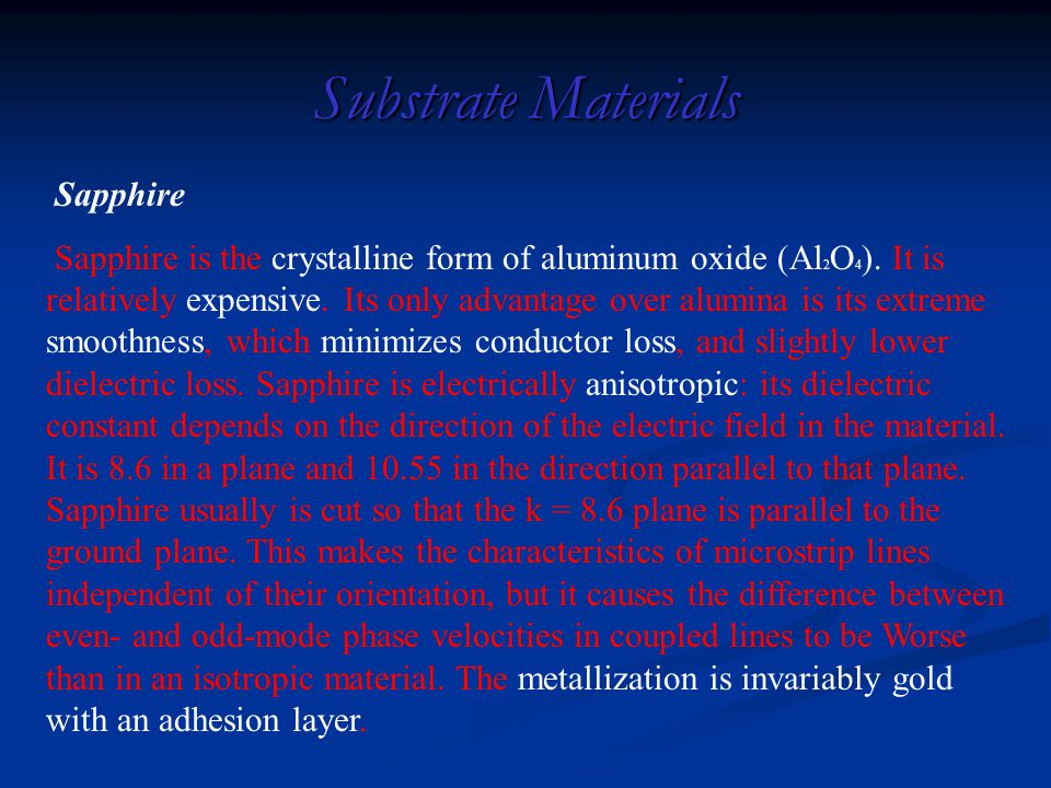 Substrate Materials Sapphire