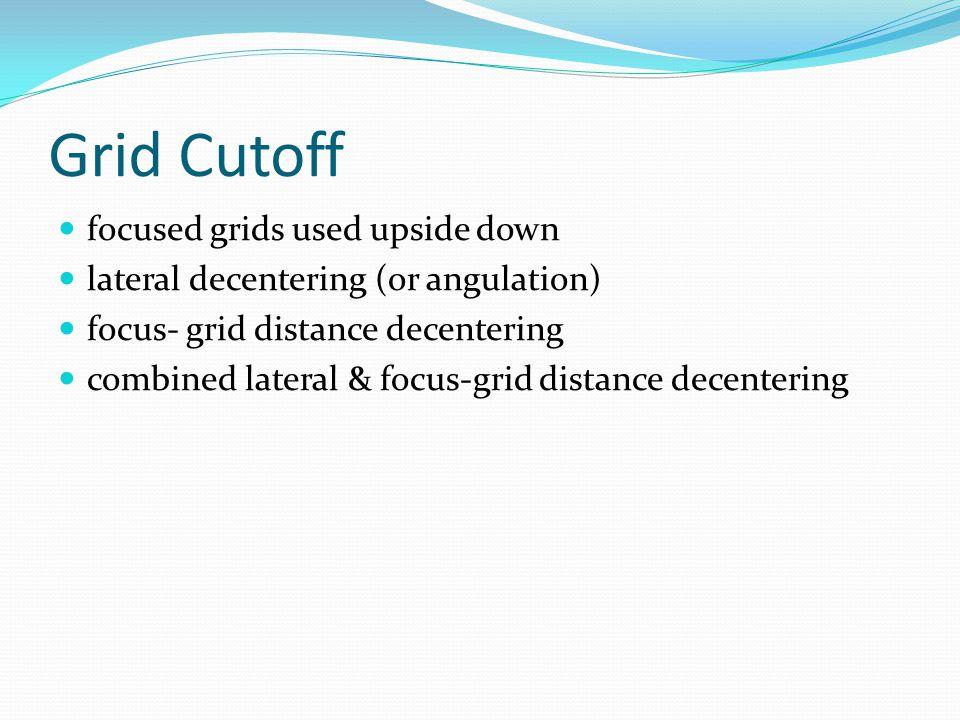 Grid Cutoff focused grids used upside down