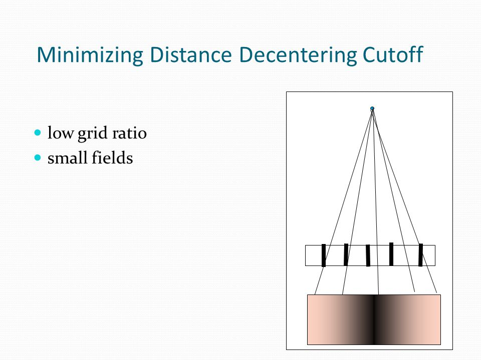 Minimizing Distance Decentering Cutoff