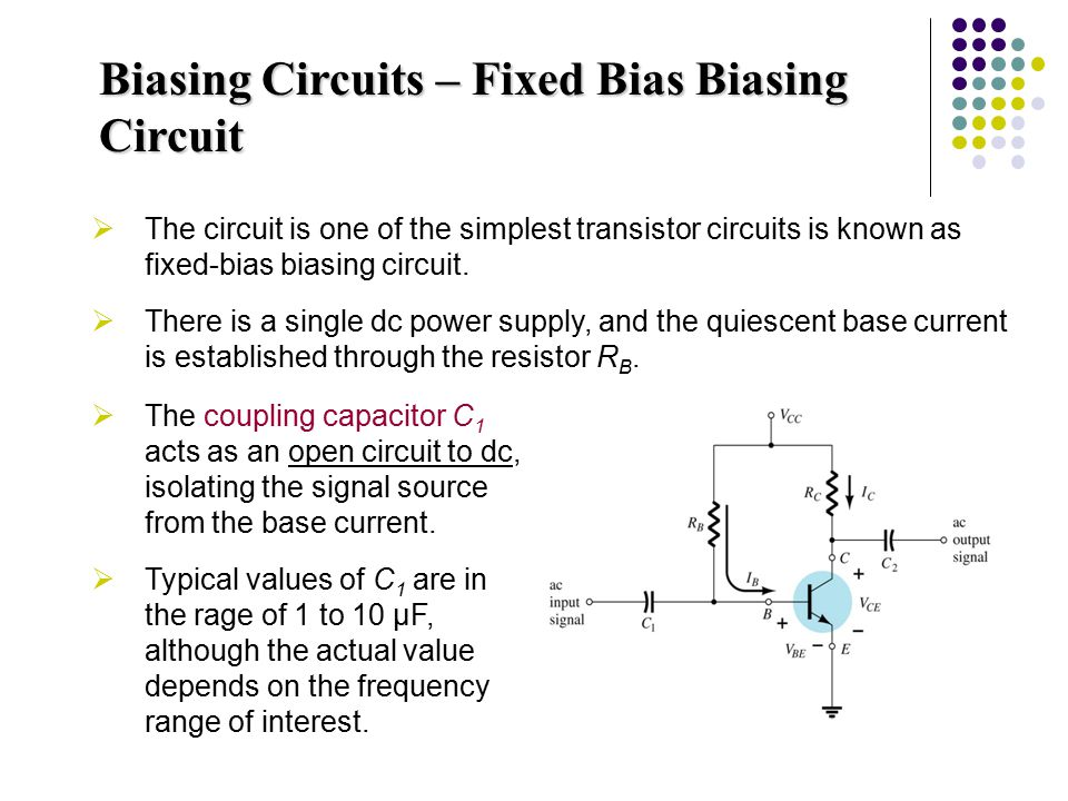 Biasing Circuits – Fixed Bias Biasing Circuit