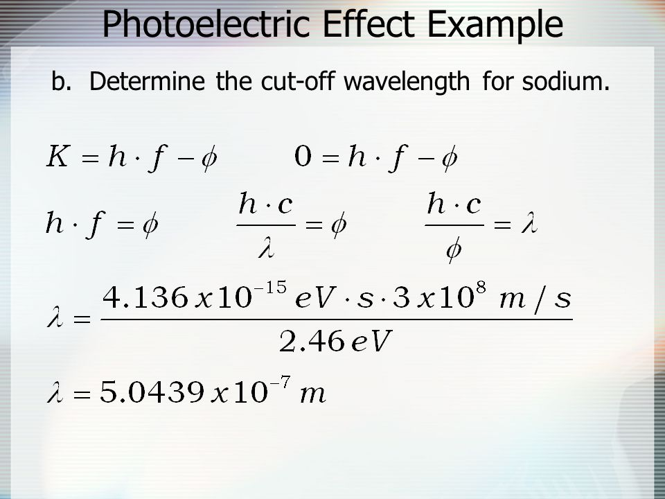 Photoelectric Effect Example