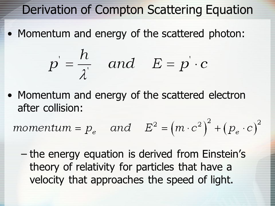 Derivation of Compton Scattering Equation